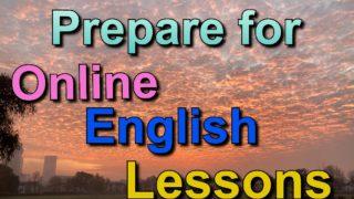 Online Lesson / オンライン英会話